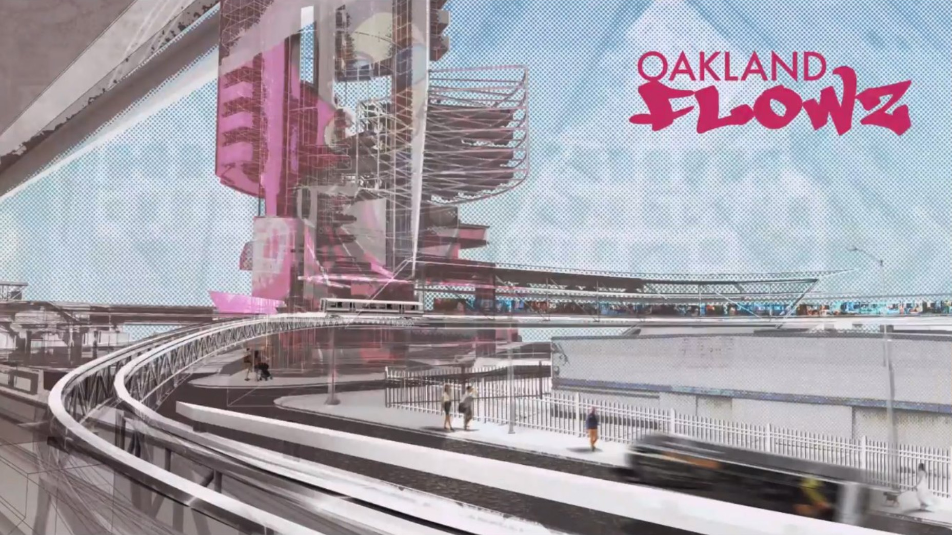 Cal Poly's student NOMA chapter won the prestigious 2020 Barbara G. Laurie Student Design Competition with their entry, Oakland Flowz, which draws upon existing BART transportation infrastructure in the Bay Area city to reimagine a fluid, mobile architecture that could broaden community outreach and increase accessibility to public essentials.